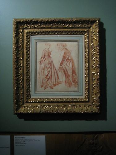 IMG_8970 - Etudes de deux figures de femmes Antoine Watteau, Antoine Watteau, Musée Cognacq-Jay, Paris, 2008