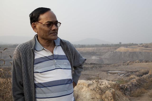Ramesh Agrawal by a coal mine