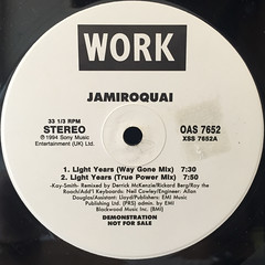 JAMIROQUAI:LIGHT YEARS(LABEL SIDE-A)