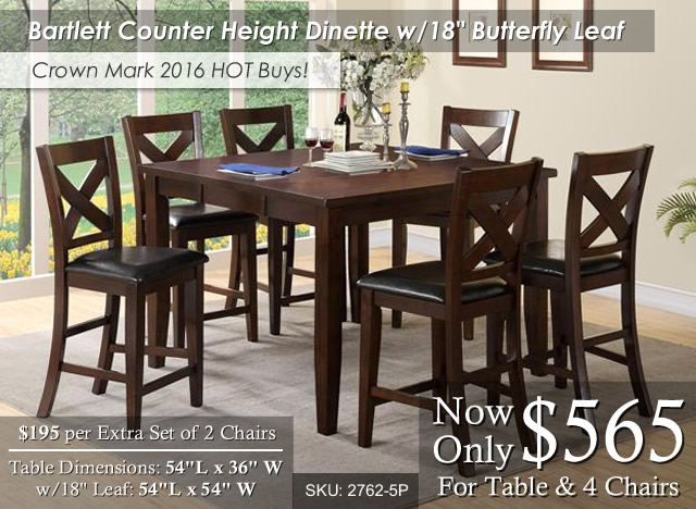 Bartlett Counter Height Dinette