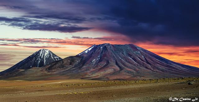 Volcano in the Atacama desert