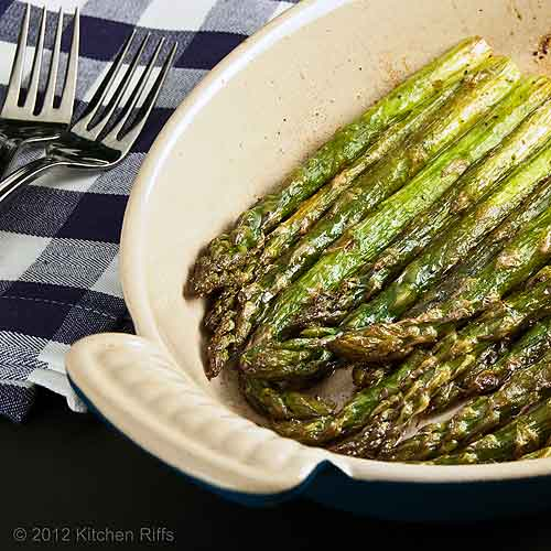 Roast Asparagus in Baking Dish