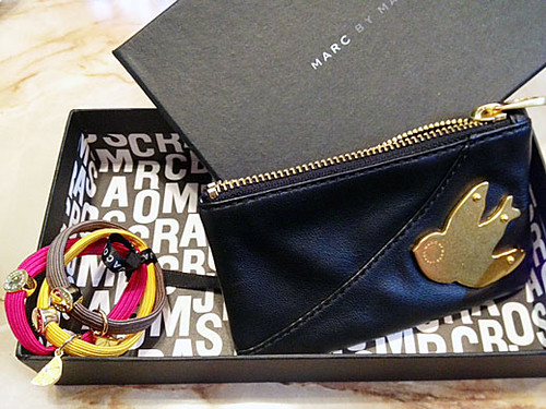 pouch and charm from Marc by