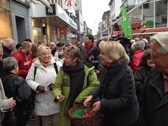 Hannelore Kraft und Sylvia Löhrmann beim Auftakt des Wahlkampfes in Bochum (Landtagswahl NRW 2012 #nrw12)