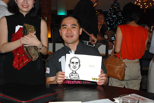 caricature live sketching for DVB Christmas party - 13
