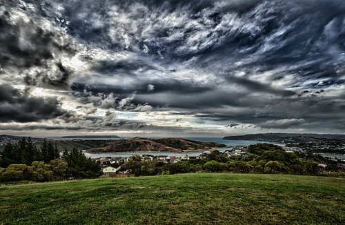 sunset newzealand sky cloud nature beautiful clouds canon landscape outside outdoors island living scenery sundown outdoor 7d nik mana hdr porirua tonemapped canon7d sxbaird landscapelovers stewartbaird