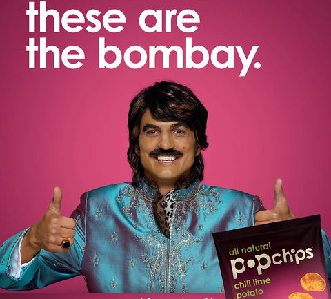 Kutcher as Raj giving the thumbs up. Text reads These are the Bombay