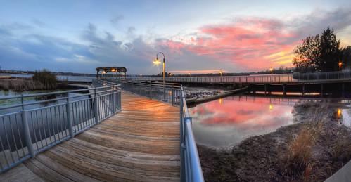 sunset reflection clouds landscape photography spring photographer fineart northcarolina boardwalk newbern tryonpalace coastalcarolina