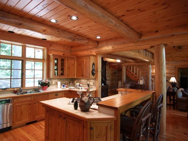 Log Home Kitchen Flickr Photo Sharing