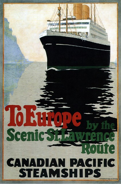 To Europe by the Scenic St. Lawrence Route. 1925