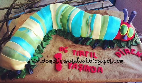 The Very Hungry Caterpillar Cake - Aç Tırtıl Pastası by Demetin spatulasi