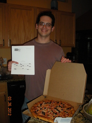 David Steffen wins a pizza for a five-minute rejection!