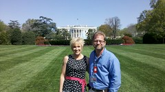 Cindy and I, White House lawn