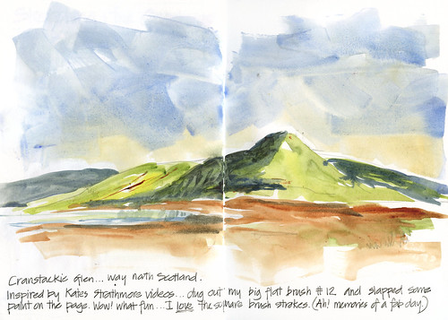 120331 Grand Scottish Landscape with a big flat brush