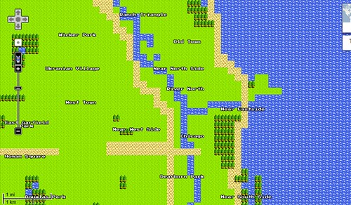 google maps 8bit Chicago