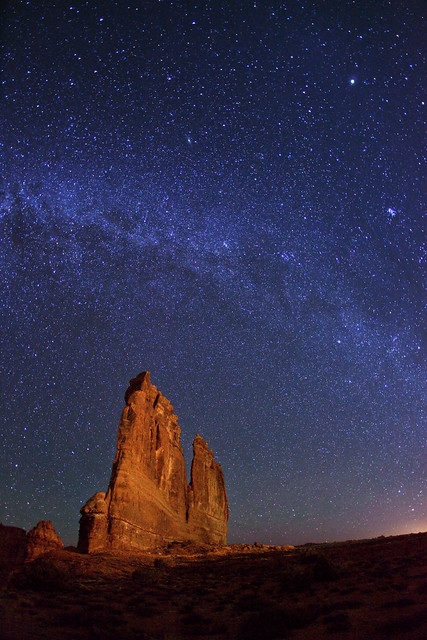 Milky Way over The Organ - Arches NP