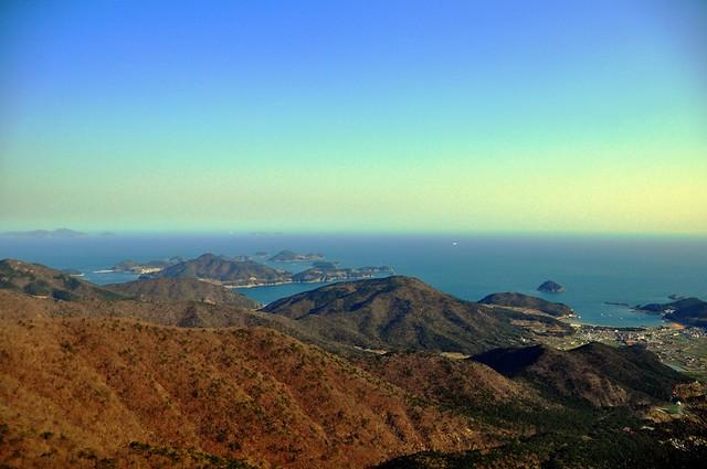 View from the Boriam Hermitage on Geum-san Mountain, Namhae Island