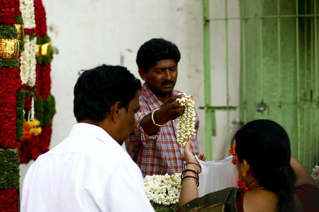 Flowers seller pooja india