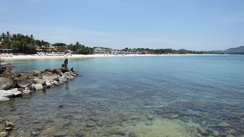 Koh Samui Chaweng Beach →Chaweng Noi Beach サムイ島チャウエンビーチからチャウエンノイビーチへ岩越え (6)