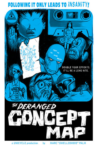 Deranged Concept Map cover by Marc Palm AKA Swellzombie