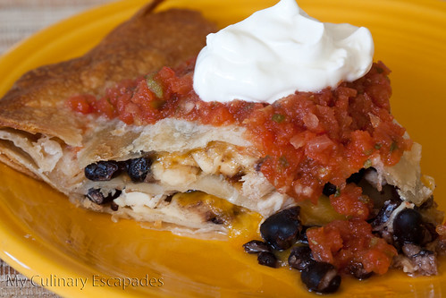 Crispy Quesadilla Pie