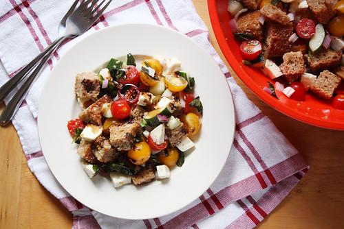 summer panzanella salad.
