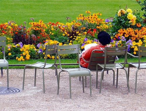 Luxembourg Gardens in Paris. I  will wait for you.