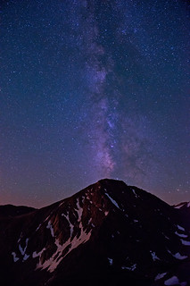Milky Way erupting from Kiowa Peak