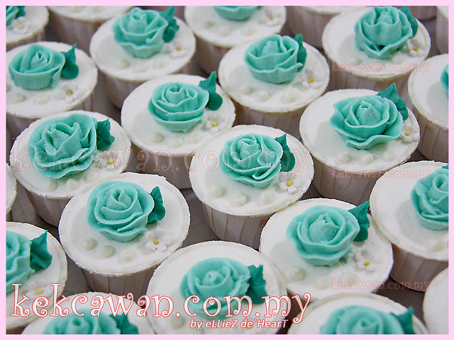 Wedding Cake & Cupcakes ~ Green Turquiose