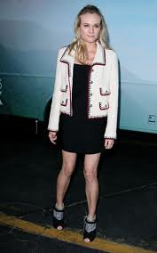 Diane Kruger Tweed Jacket Celebrity Style Women's Fashion