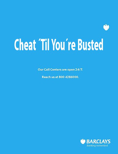 Barclays ad - Cheat 'til you're busted by Teacher Dude's BBQ