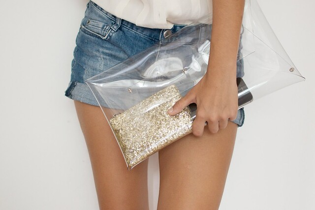 diy transparent clutch process