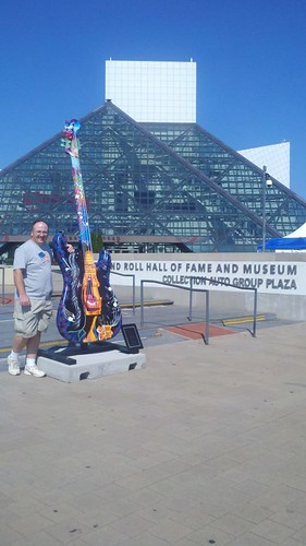 Dave at the Rock and Roll Hall of Fame