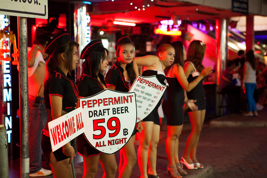 Walking street, Паттайя, фотосъемка в Тайланде