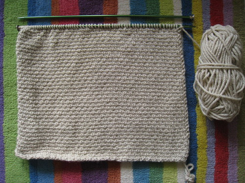 Stockinette Ribbon Cushion