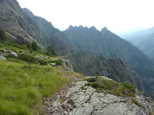 Bergeries de Scaffone : le site et la vue vers l'Andadonna