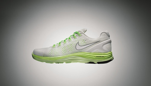 Nike LunarGlide+ 4 White-Volt