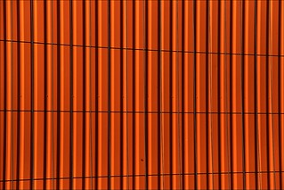 orange container and grid