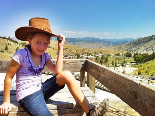 Rachel at Mammoth Hot Springs in Yellowstone National Park