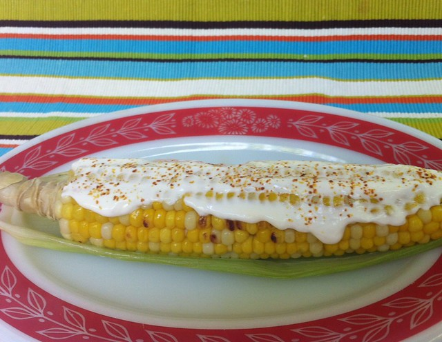 I made street cart style elote (Mexican corn-on-the-cob)