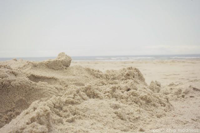 sand piles.
