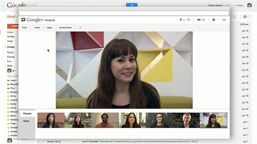 Google plus Hangouts to Gmail