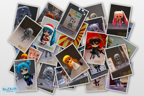 Photo collage of Nendoroid seen in Summer WonFes 2012