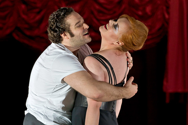 Bryan Hymel as the Prince and Lang as Foreign Princess in Rusalka. ©Clive Barda/ROH 2012