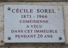 Photo of Cécile Sorel stone plaque