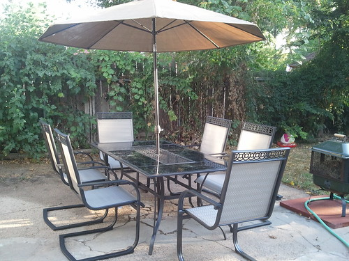 Jay and Becca's Fancy New Patio Set