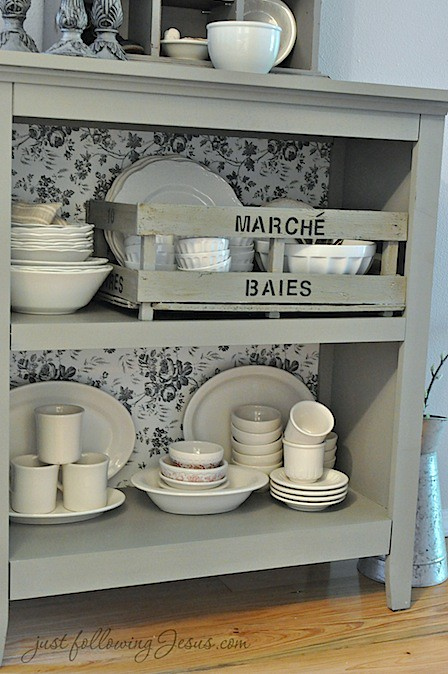 gray shelf and white ironstone 3.jpg