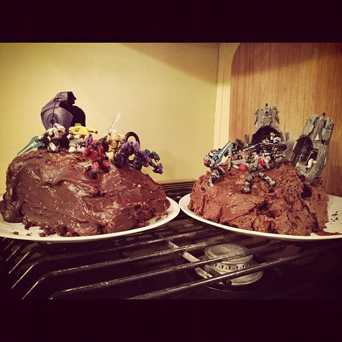 Zeb's cake: Halo battle in the hill