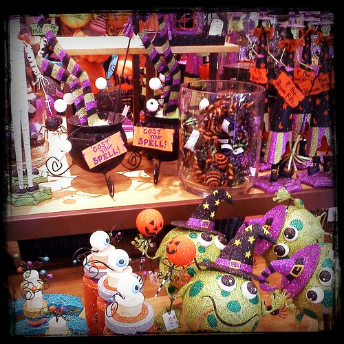 cutesy and corny a continuing theme i like the design of the cauldrons in the middle however - Pier One Halloween
