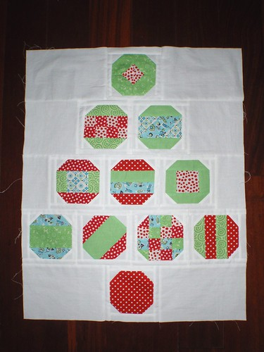 QUILT TOP - O(rnamental) Christmas Tree, Nov 2012